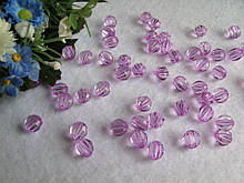 Бусины хрустальные лиловый 8 мм (искусственные)