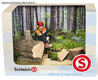 Набор: лесник с бензопилой- Scenery Pack- Шлейх