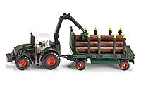 Туалет: Фермер - 1:87: Трактор с лесной прицепом