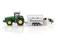 Туалет: Фермер - 1:50: Джон Дир с прицепом для перевозки животных