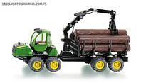 Фермер - 1:50: Джон Дир с прицепом лесной SIKU