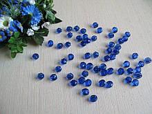 Бусины хрустальные синие 8 мм (искусственные)