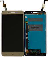 Дисплей (экран) для телефона Lenovo Vibe K5 Plus A6020 a46, Lemon 3 + Touchscreen Original Gold