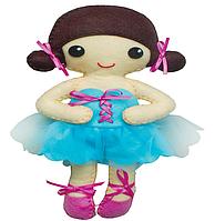 Рукоделие войлочные: Кукла танцовщицей в синем платье