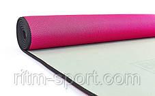 Килимок для йоги та фітнесу ( 61 см * 175 см * 6 мм), фото 2