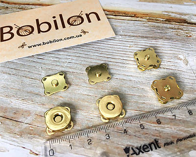 Магнітні Пришивні Кнопки 14 мм в кольорі Золото