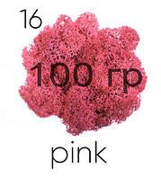 МОХ СТАБИЛИЗИРОВАННЫЙ (ЯГЕЛЬ), Pink 16, 100 ГРАММ