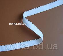 Резинка для белья с ажурным краем- 2317, ширина 12мм, цвет белый, черный, молочный