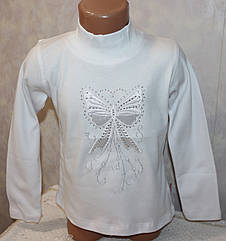 Белая нарядная кофта на девочку 5,6,7,8 лет 100 % хлопок