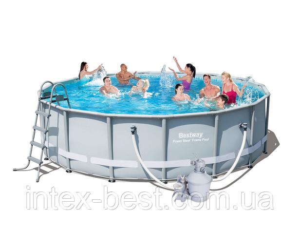 Каркасный бассейн Bestway 56452 Power Steel Frame Pools - 488 x 122 cм, фото 2