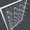 Сетка торговая в рамке 1045х585 ячейка 5х10см, пров 3.0мм, труба 20х20мм.