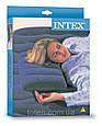 Подушка надувная флокированная Intex 68672 (48х32х9см) синяя, фото 7
