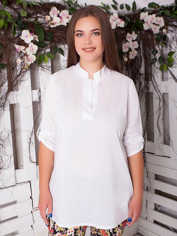 """Женская рубашка большого размера """"Нежная"""" до 70 размера"""