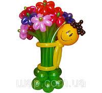 """""""Обнимашки"""" для цветов из воздушных шаров со смайликом (11 ромашек)"""