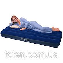 Матрас надувной Intex 64756 односпальный, 76 x 191 x 25 cм флокированный (68950)