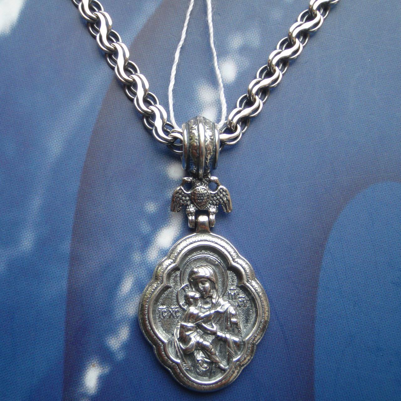 Серебряная подвеска-ладанка Святая Богородица, 8 грамм