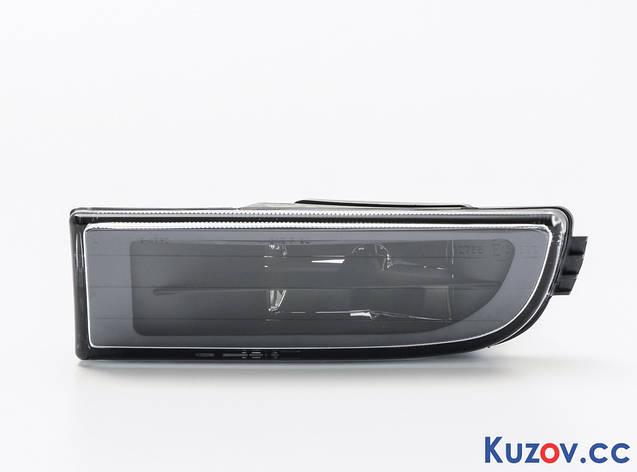 Противотуманная фара (ПТФ) BMW 7 E38 94-02 левая (Depo) черн. рассеиватель (бенз) 2022290E 63178352023, фото 2