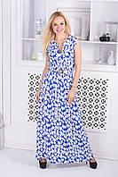 Женское штапельное платье в пол, фото 1