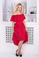 Модное летнее женское платье из прошвы, фото 1