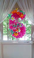 Циферка 6 из воздушных шаров для детского дня рождения