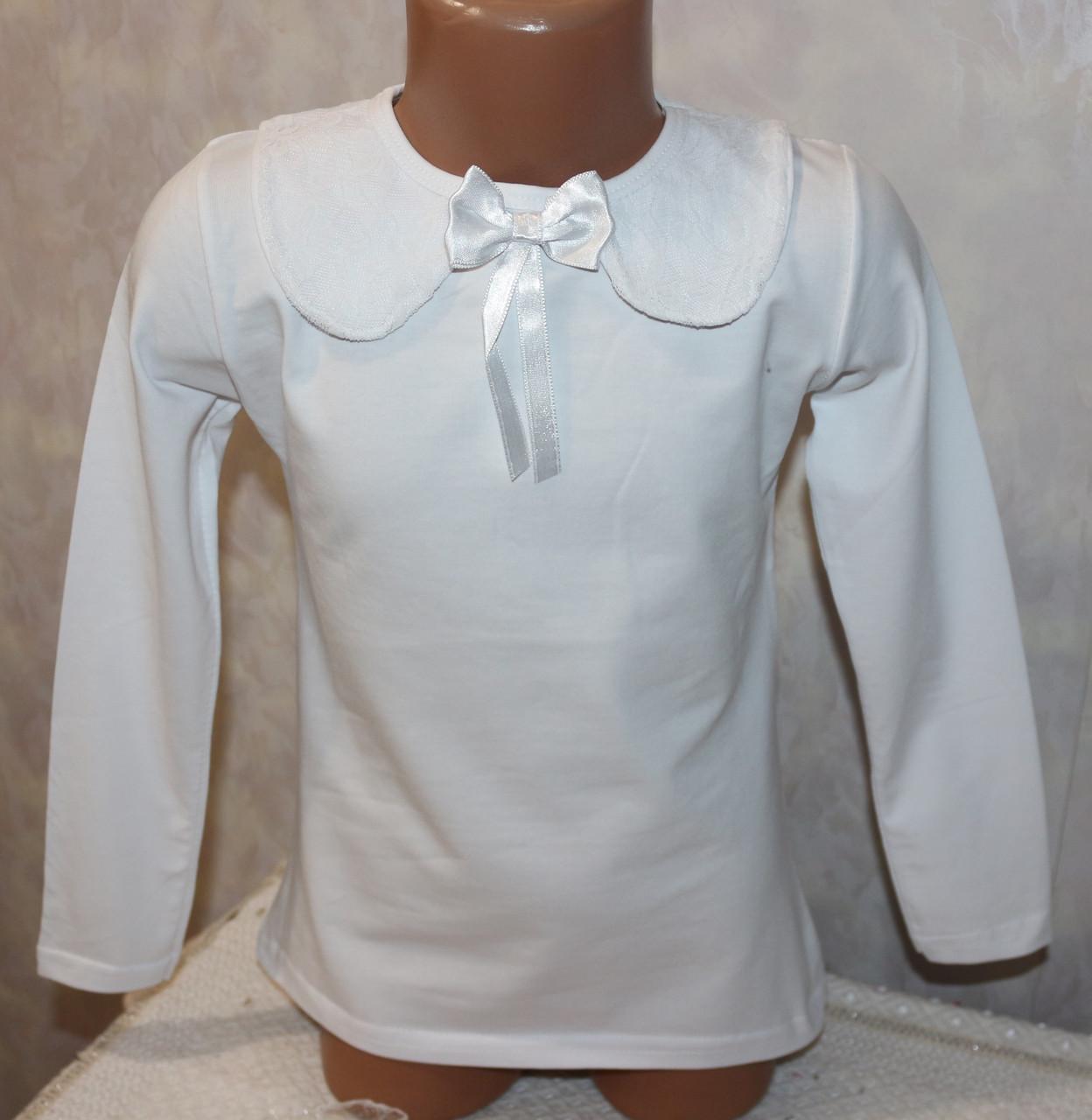 Кофта школьная нарядная на девочку Турция 6,8,10,12 лет 100 % хлопок цвет молочный