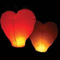 Небесные фонарики  в виде сердца, ,1 метр ,разных цветов красные
