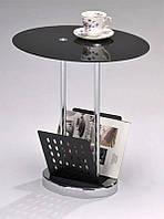 Кофейный столик SR-0638, сервировочный кофейный столик с газетницей на колесиках