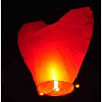 Небесные фонарики  в виде сердечка, 1 метр ,разные цвета красные