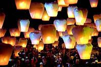 Небесные фонарики  в виде купола ,1 метр ,разных цветов