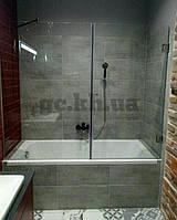 Шторка на ванну фронтальная (крепление двери к стене)