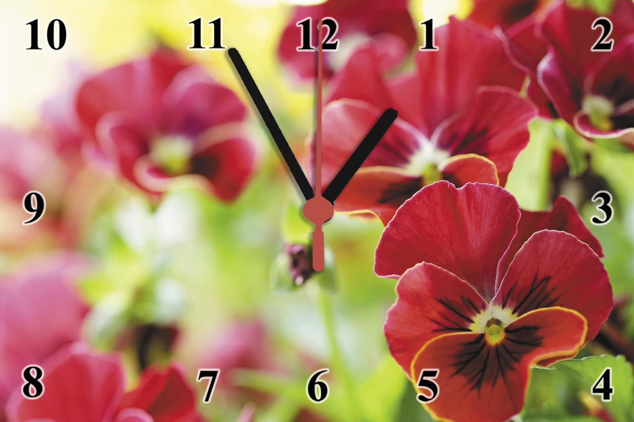 """Настенные часы на стекле  """"Дикая орхидея"""" кварцевые"""
