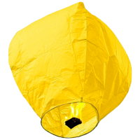 Небесные фонарики  в виде купола ,1 метр ,разных цветов желтый