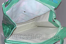 Пляжна сумка щільний силікон бірюза, фото 3