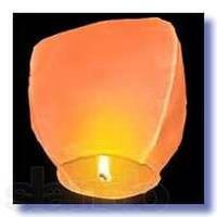 Небесные фонарики  Купол ,1 метр ,разных цветов оранжевый