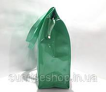 Пляжна сумка щільний силікон бірюза, фото 2