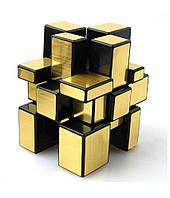 Кубик рубика 3х3 зеркальный Shengshou (золото) кубик-Рубика