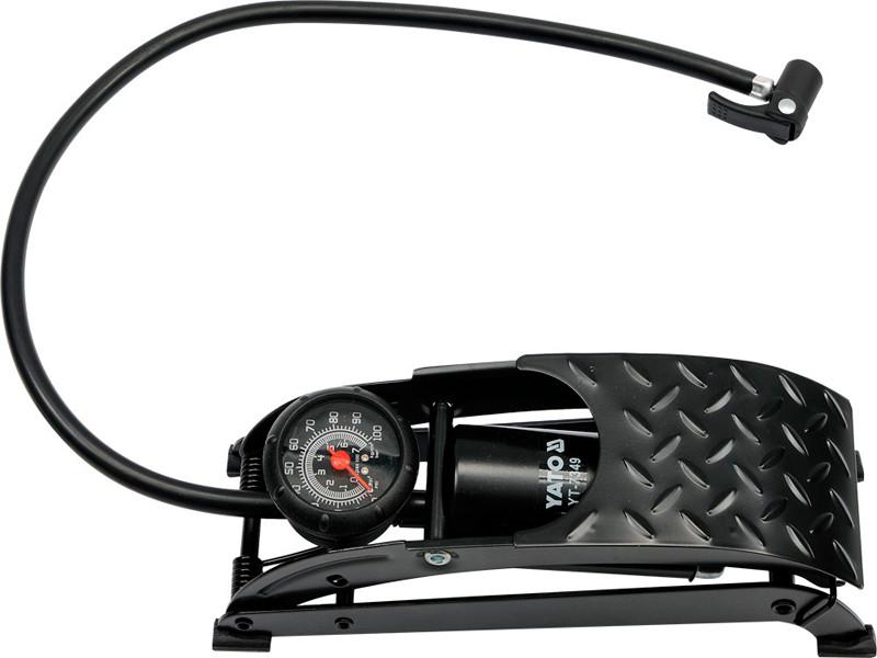 Автомобильный насос с манометром ножной Yato YT-7349 - Интернет-магазин BoomMarket в Киеве