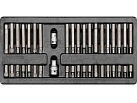 """Вставка ложемент для инструментального ящика с набором бит насадок """"звёздочка"""" Yato YT-5538"""