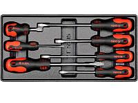 Вставка ложемент для инструментального ящика с набором из 7 плоских отвёрток Yato YT-5535