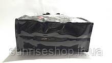 Сумка пляжная летняя  плотный силикон чёрная, фото 3