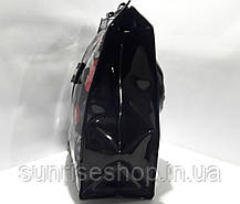 Сумка пляжная летняя  плотный силикон чёрная, фото 2