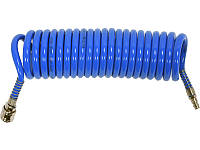 Полиуретановый спиральный шланг для компрессора 6,5х10мм 10 метров Yato YT-24205