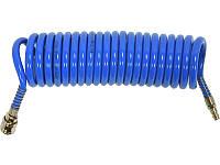 Полиуретановый спиральный шланг для компрессора 6,5х10мм 15 метров Yato YT-24206