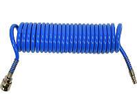 Полиуретановый спиральный шланг для компрессора 6,5х10мм 5 метров Yato YT-24204