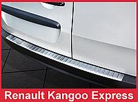 Накладка на бампер с загибом и ребрами Renault Kangoo Express