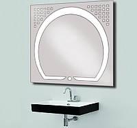 Зеркало со светодиодной подсветкой 800х800, фото 1