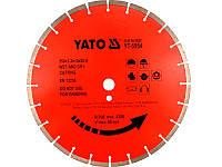 Отрезной алмазный диск для станка 350мм х 25,4мм Yato YT-5954
