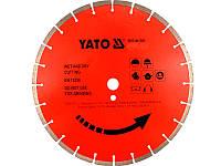 Сегментный алмазный диск по камню 400мм х 25,4мм Yato YT-5955