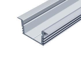 Профиль алюминиевый врезной ЛПВ12 Biom (комплект профиль+линза), 2м