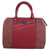 Большая каркаснаястильная прочная женская сумка art. 040красная